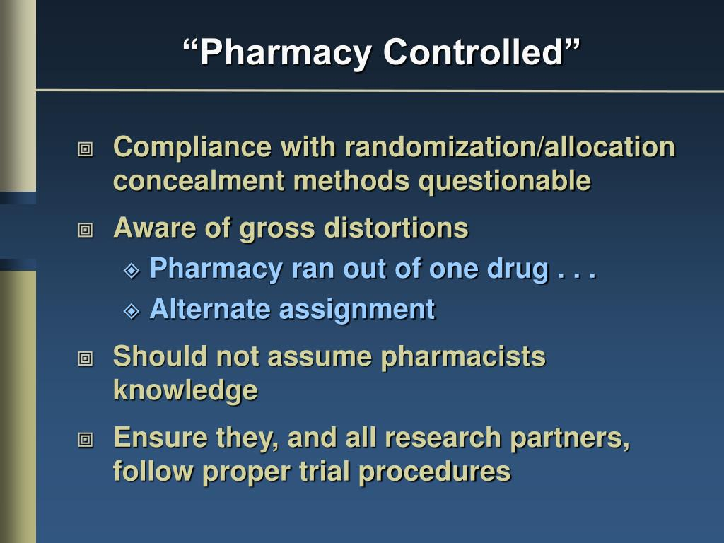 """Pharmacy Controlled"""