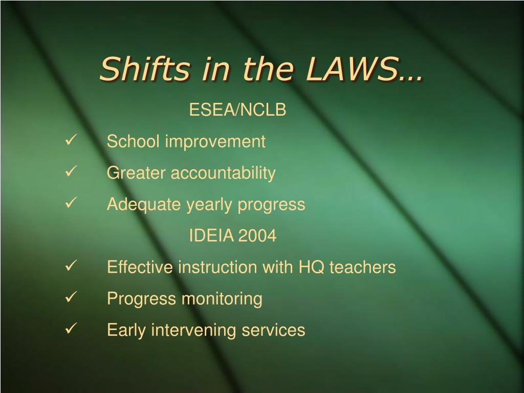 Shifts in the LAWS…