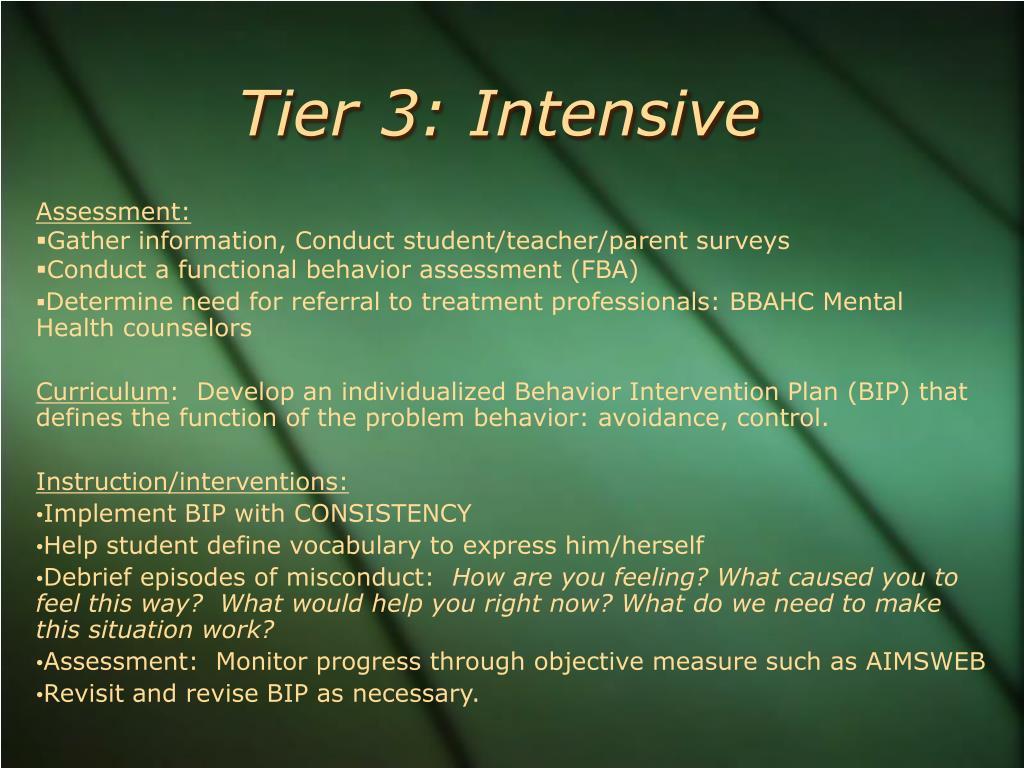 Tier 3: Intensive
