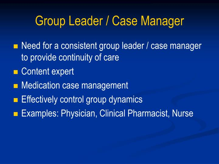 Group Leader / Case Manager
