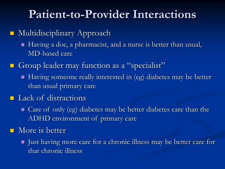 Patient-to-Provider Interactions