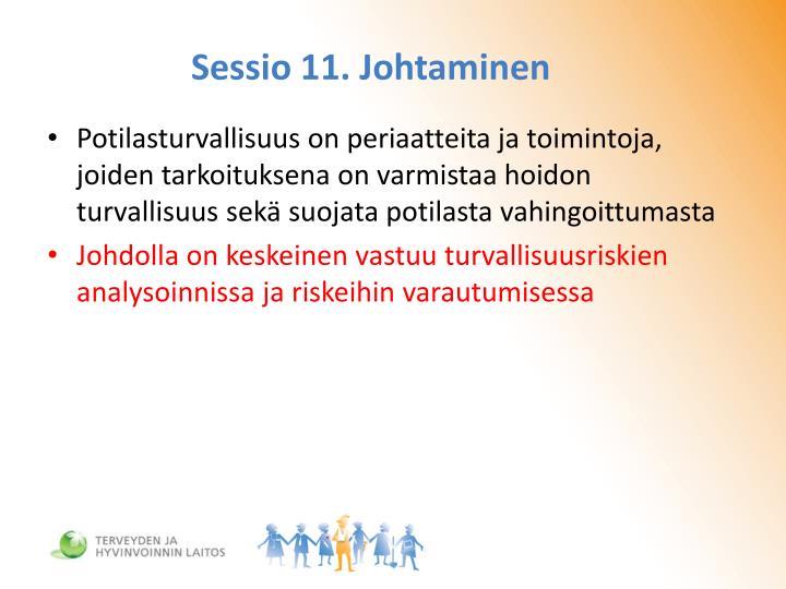 Sessio 11. Johtaminen