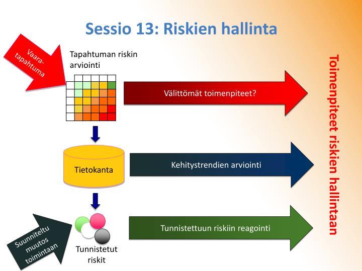Sessio 13: Riskien hallinta