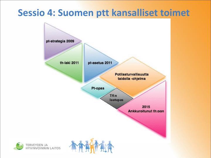 Sessio 4: Suomen ptt kansalliset toimet