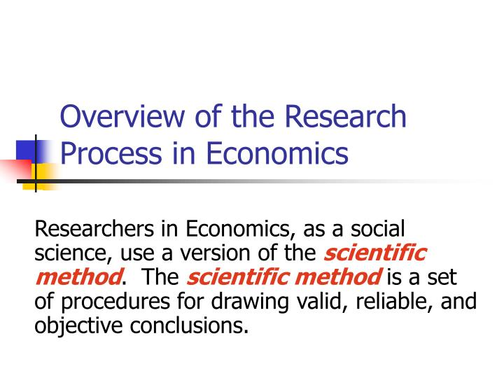 Overview of the research process in economics