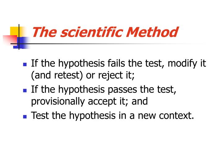The scientific method3