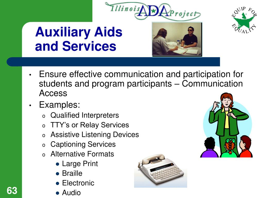 Auxiliary Aids