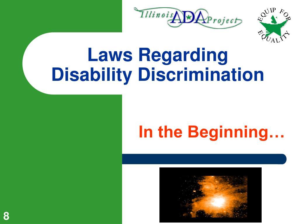 Laws Regarding