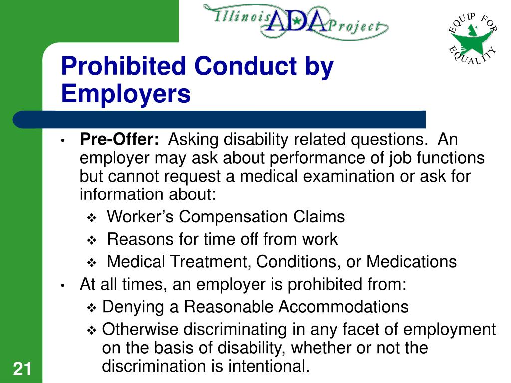 Prohibited Conduct by Employers