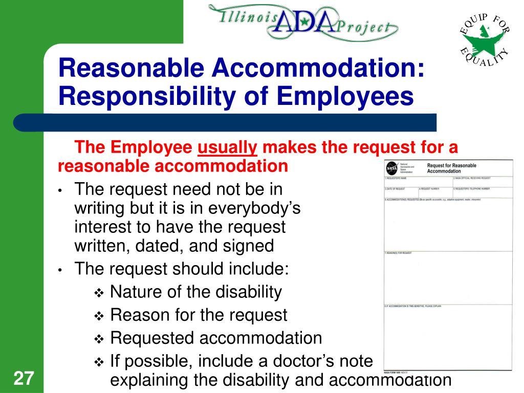 Reasonable Accommodation: