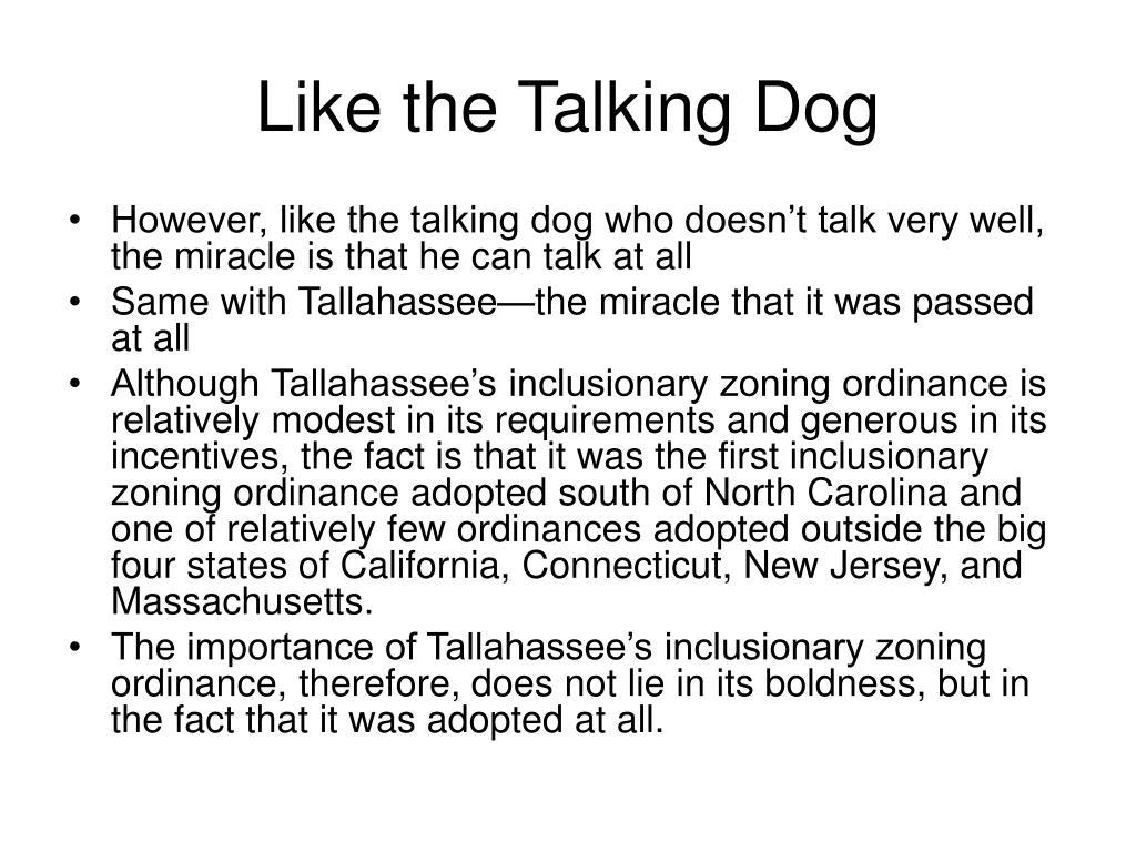 Like the Talking Dog