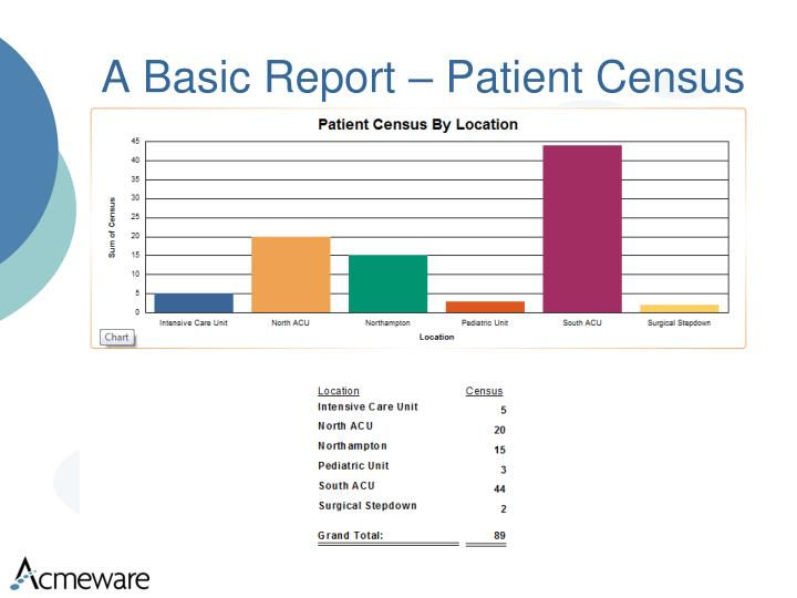 A Basic Report – Patient Census