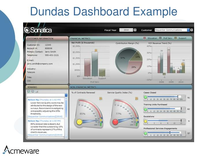 Dundas Dashboard Example