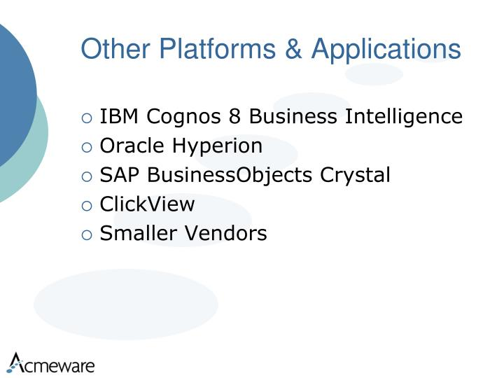 Other Platforms & Applications