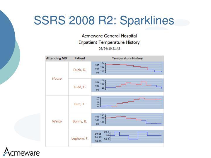 SSRS 2008 R2: Sparklines