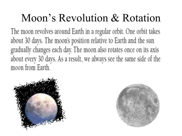 Moon's Revolution & Rotation