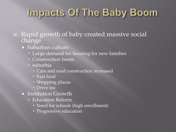 Impacts Of The Baby Boom