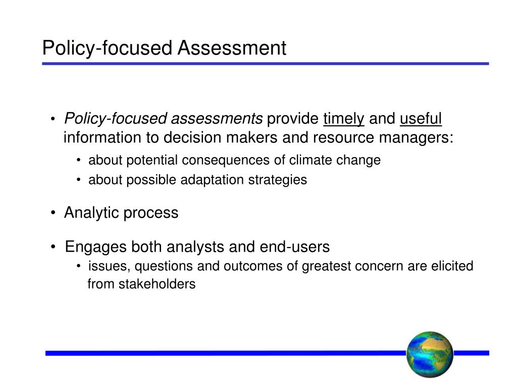 Policy-focused Assessment