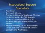 instructional support specialists