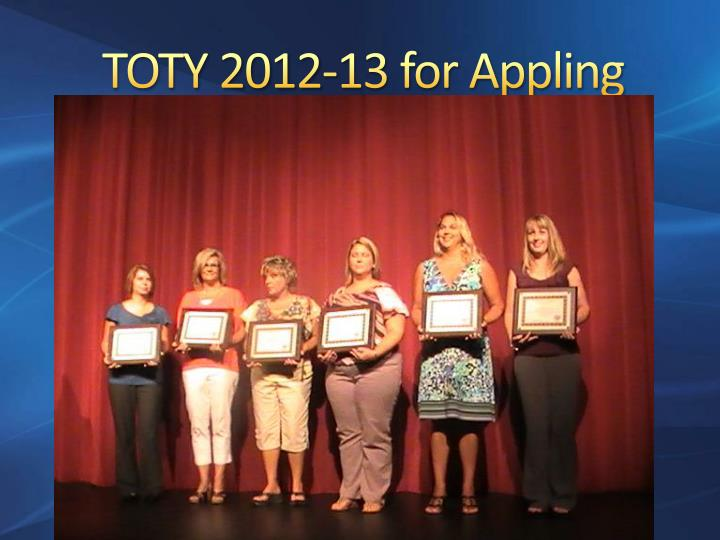 TOTY 2012-13 for Appling