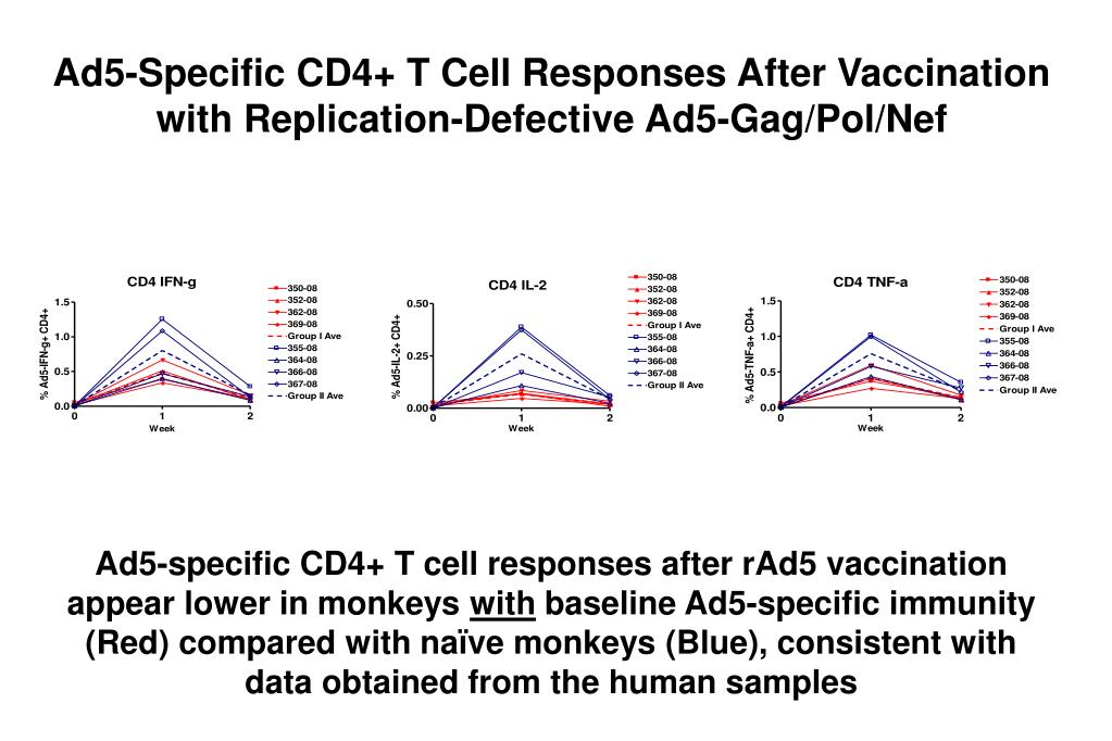 Ad5-Specific CD4+ T Cell Responses After Vaccination with Replication-Defective Ad5-Gag/Pol/Nef