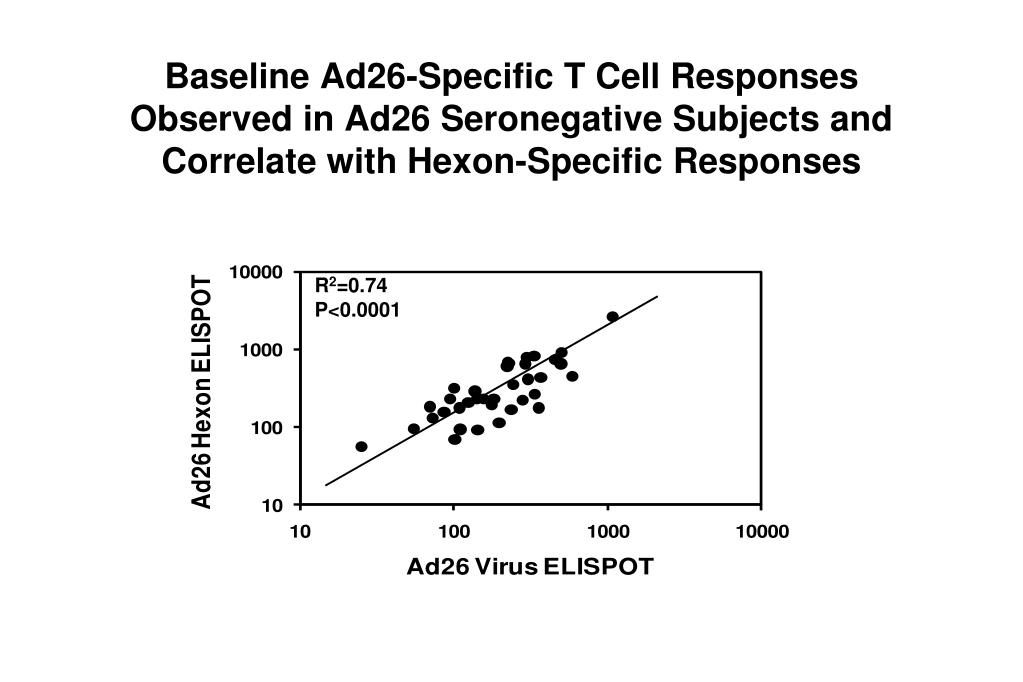 Baseline Ad26-Specific T Cell Responses Observed in Ad26 Seronegative Subjects and Correlate with Hexon-Specific Responses