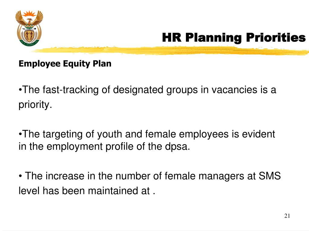 HR Planning Priorities