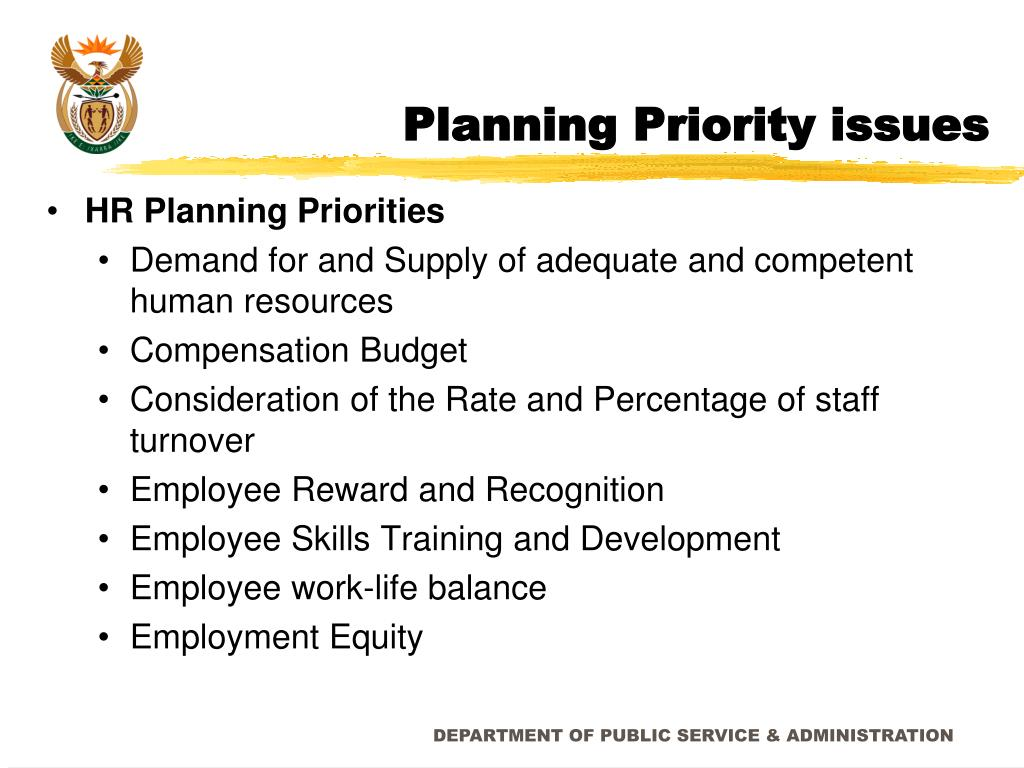 Planning Priority issues