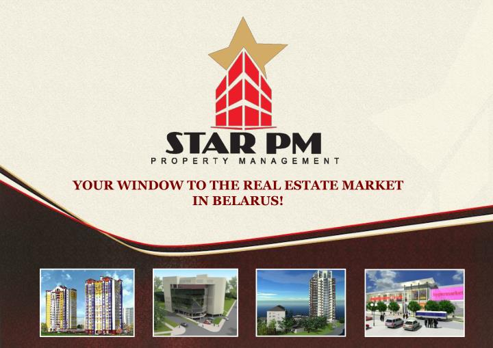 YOUR WINDOW TO THE REAL ESTATE MARKET