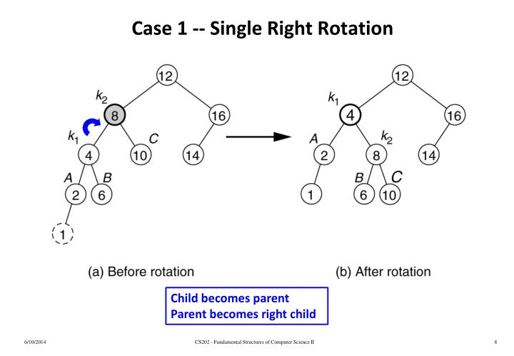 Case 1 -- Single Right Rotation