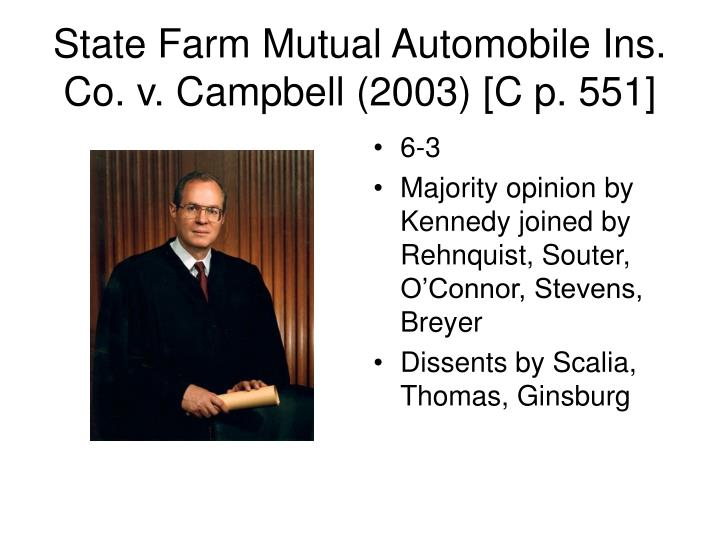 State Farm Mutual Automobile Ins. Co. v. Campbell (2003) [C p. 551]