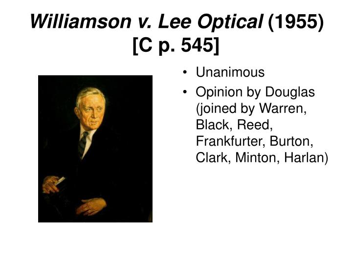 Williamson v. Lee Optical