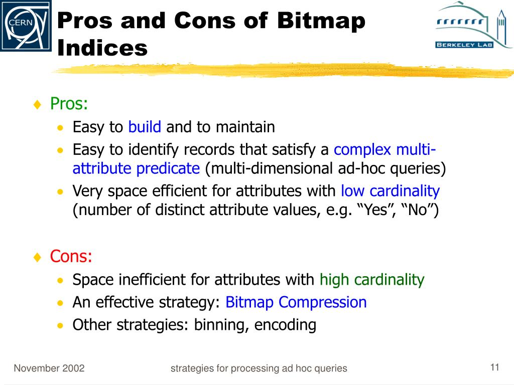 Pros and Cons of Bitmap Indices