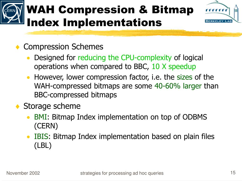 WAH Compression & Bitmap Index Implementations