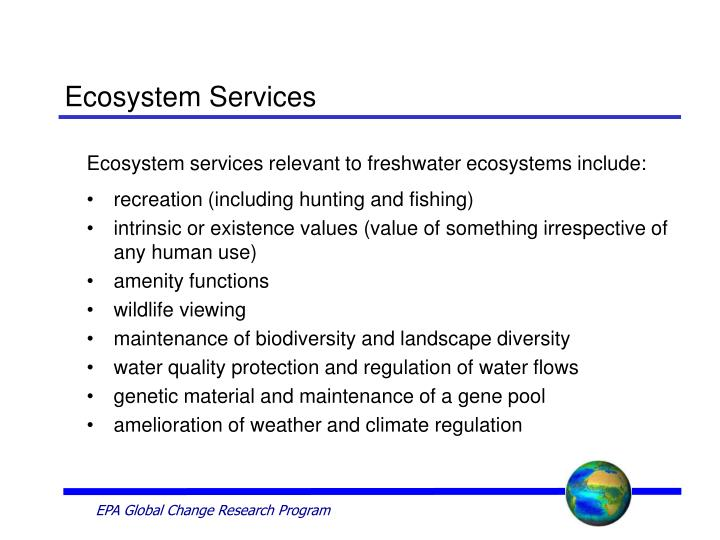 Ecosystem services3