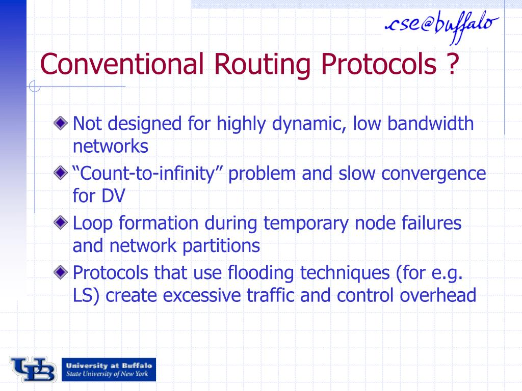 Conventional Routing Protocols ?