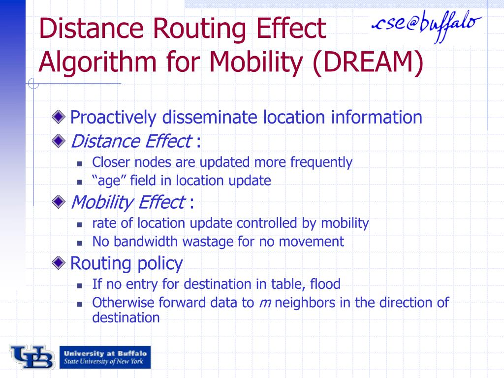 Distance Routing Effect