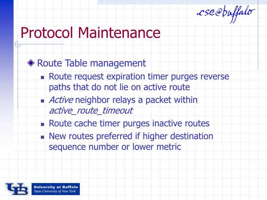 Protocol Maintenance