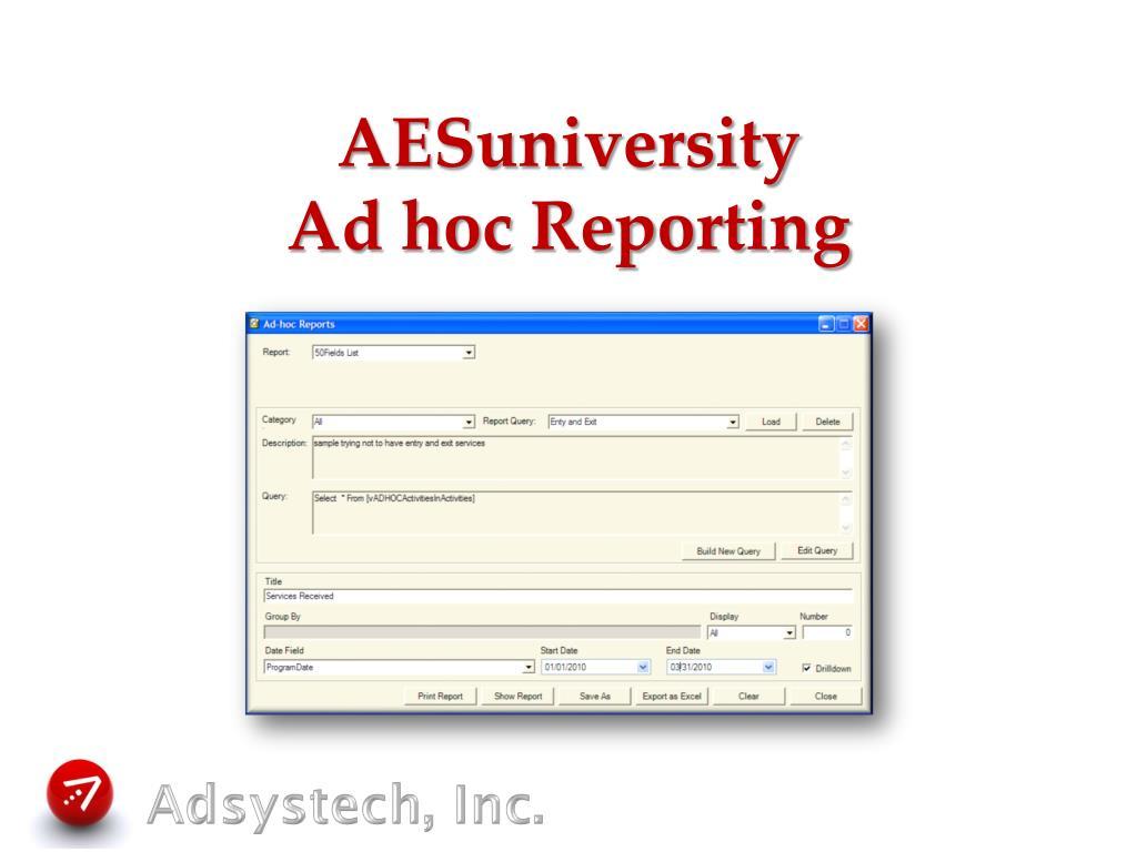 AESuniversity