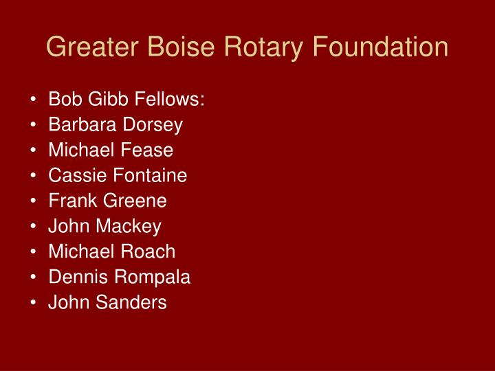 Greater Boise Rotary Foundation