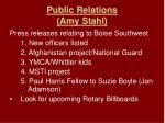 public relations amy stahl