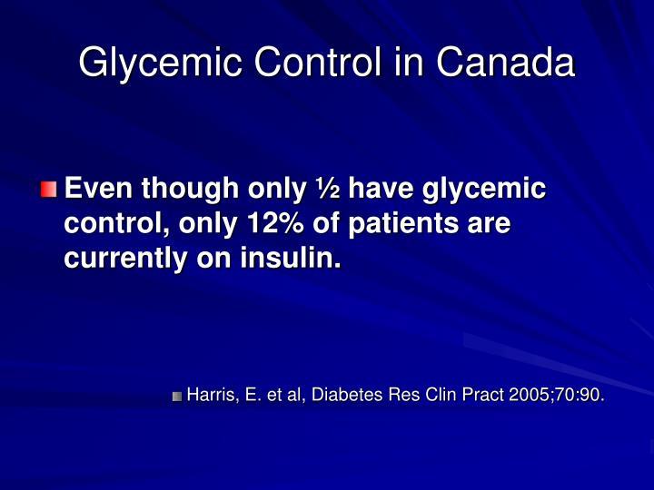 Glycemic Control in Canada