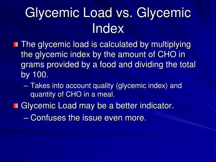 Glycemic Load vs. Glycemic Index