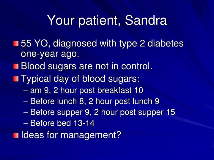 Your patient, Sandra