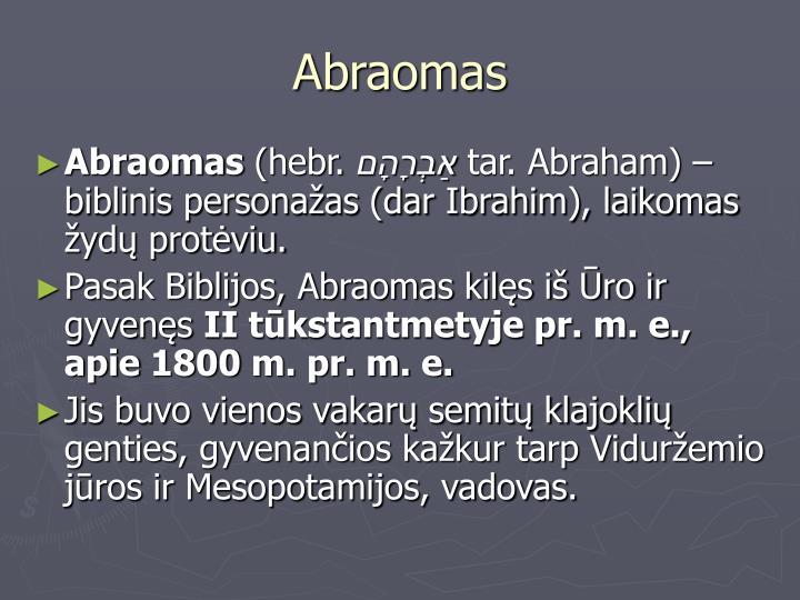 Abraomas