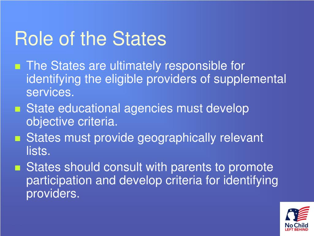 Role of the States