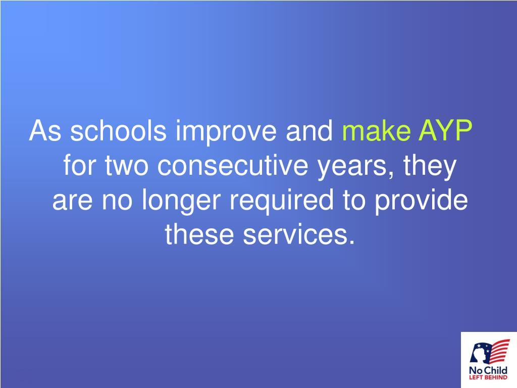 As schools improve