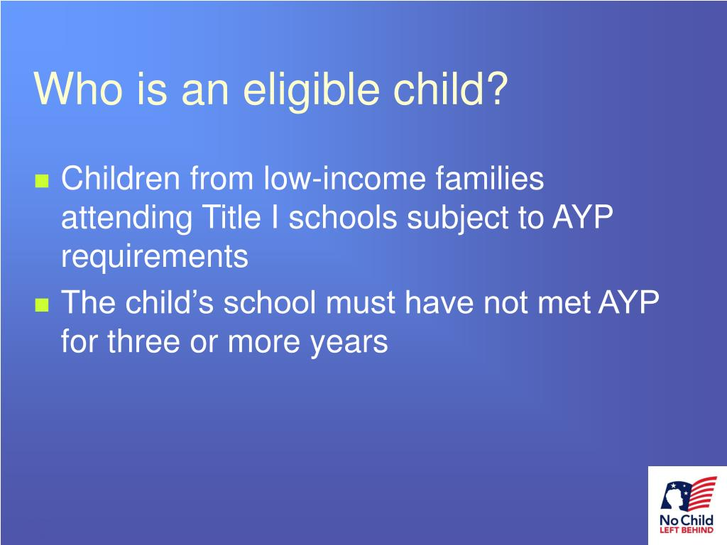 Who is an eligible child?
