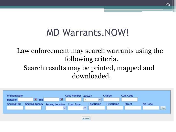 MD Warrants.NOW!