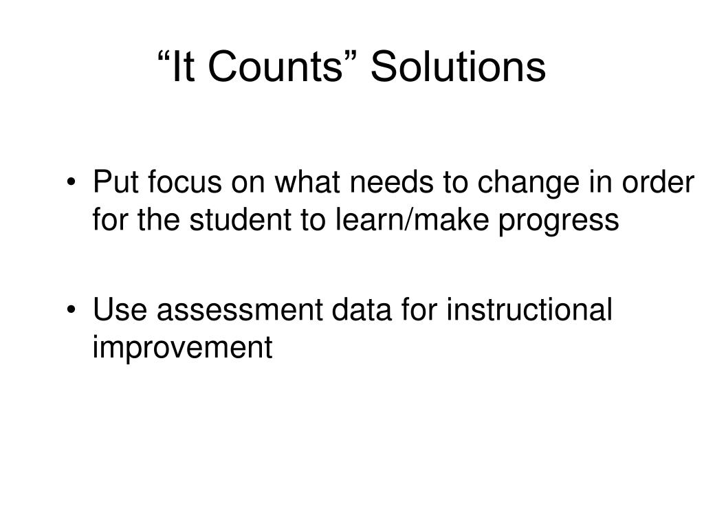 """It Counts"" Solutions"